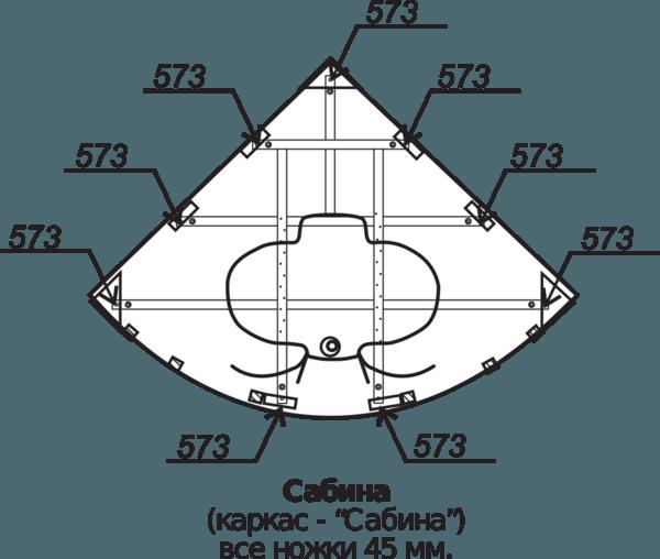 Ванна акриловая 160х160см Сабина угловая (500л), толщина листа 5мм. Тритон (без каркаса) в Калининграде