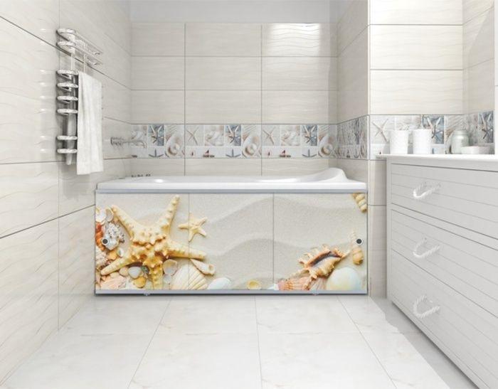 Экран-купе под ванну пластиковый 1680 мм Премиум Арт №1 в Калининграде