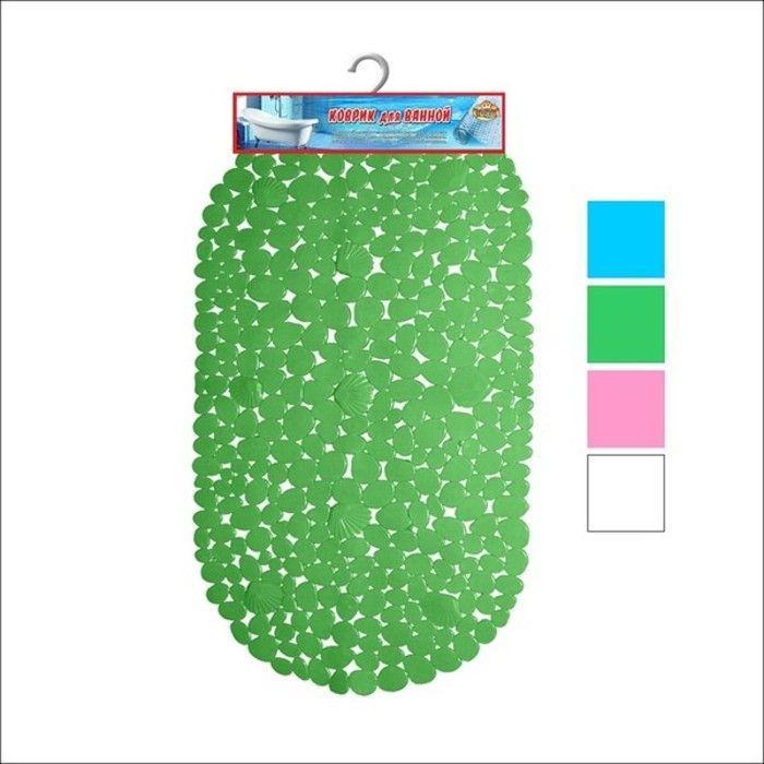 Коврик д/ванной резиновый Камушки зеленый (С6939) в Калининграде