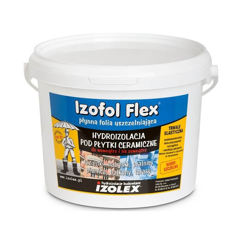 Мастика полимерная полужидкая для бесшовного водонепроницаемого покрытия под плитку Izolex Izofol Flex 25 кг в Калининграде