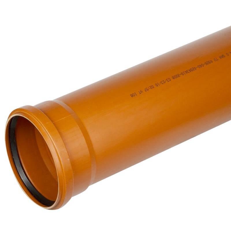Труба канализационная ПВХ 160х4,0х6000мм SN4 наружная, COSMOPLAST
