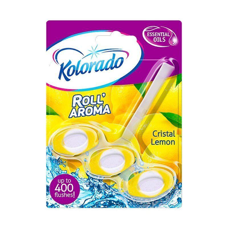 Блок для WC трехфазный Roll Aroma Cristal Lemon  51гр в Калининграде