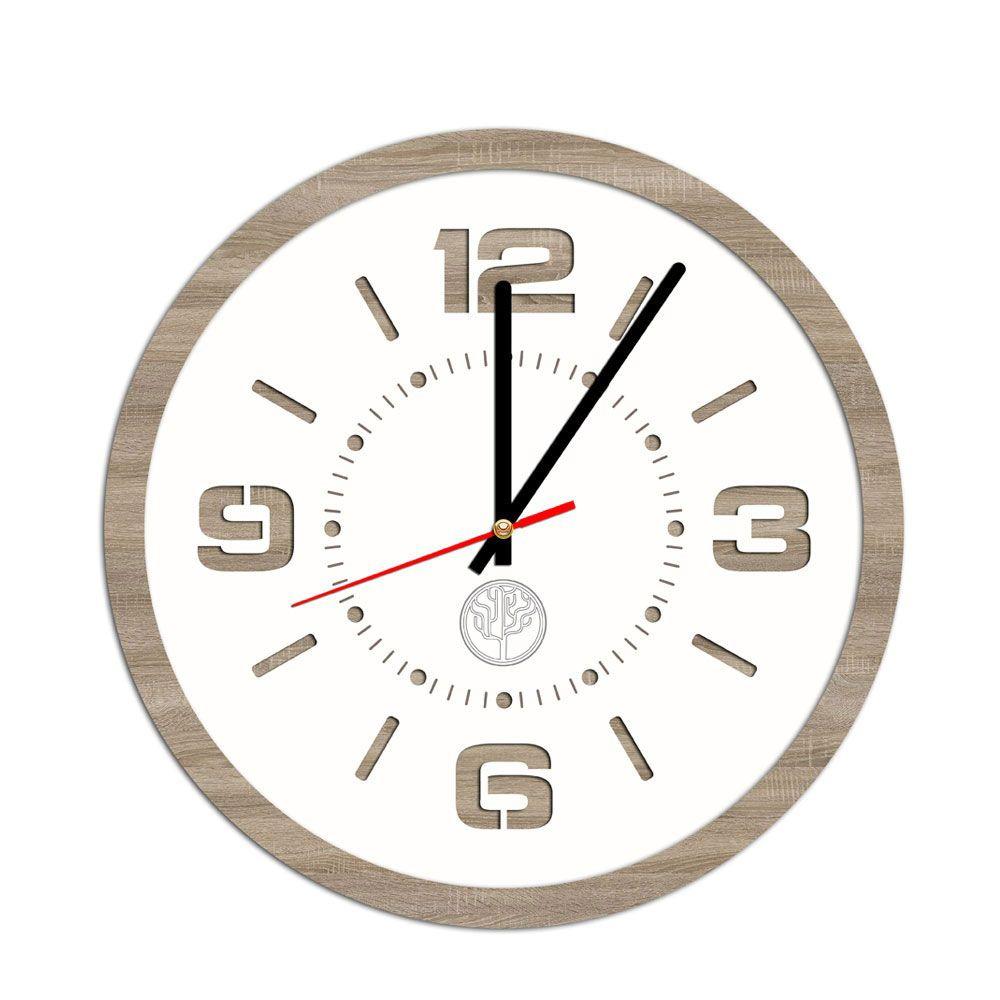 Часы круглые 30*30см, дуб, белый в Калининграде