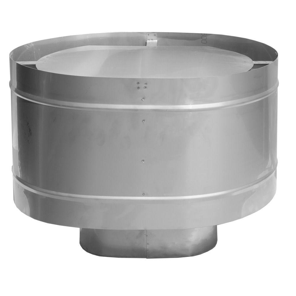 Дефлектор на трубу для дымохода нержавеющая сталь овал 120х240 в Калининграде