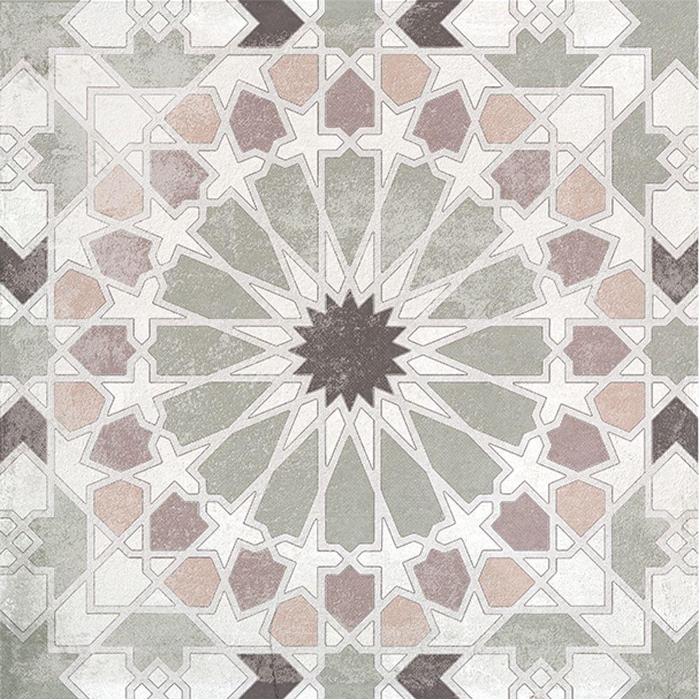Плитка напольная Грес Декор авеню арабескос (PEI-3) 18,7х18,7х0,8см в Калининграде