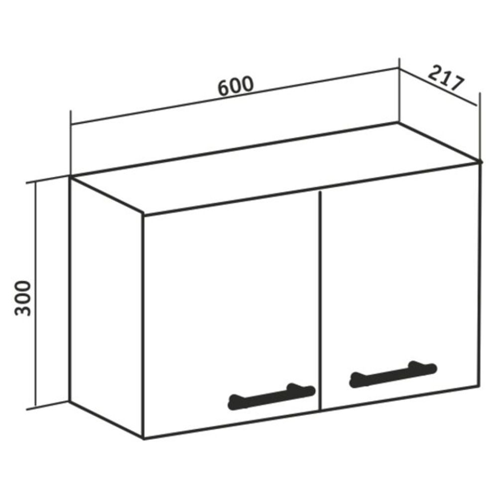 Шкаф навесной 60х30см Рондо, Runo в Калининграде