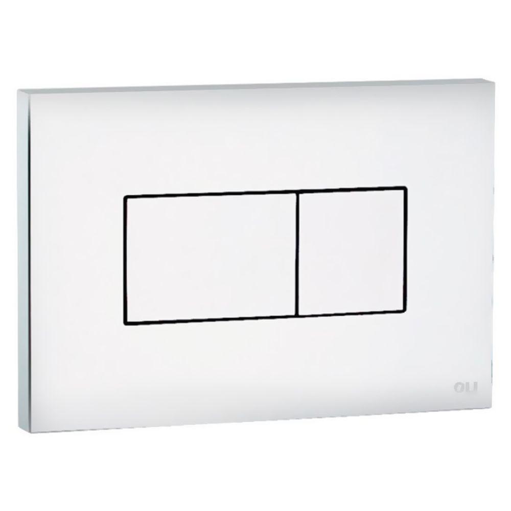 Кнопка смыва для инсталляции двойная, пневматическая, пластик белый 641001 Karisma Oliveira в Калининграде