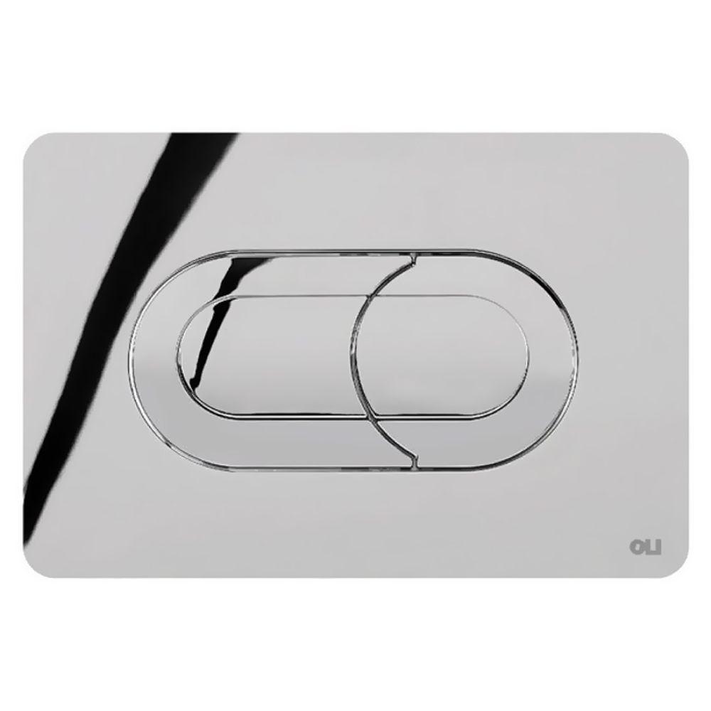 Кнопка смыва для инсталляции двойная, пневматическая, пластик хромированный глянцевый 640084 Salina Oliveira в Калининграде