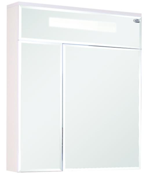 Шкаф-зеркало Сигма 700 мм, с подсветкой, правый, белый Onika в Калининграде