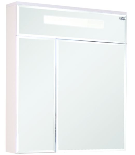 Шкаф-зеркало Сигма 600 мм, с подсветкой, правый, белый Onika в Калининграде