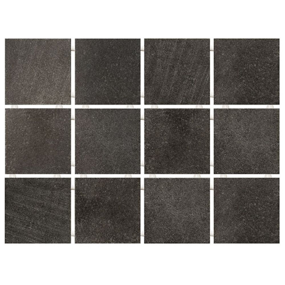Плитка настенная Караоке черная 1222Т 30х40х0,7см (9,9х9,9х0,7см 12 шт) в Калининграде