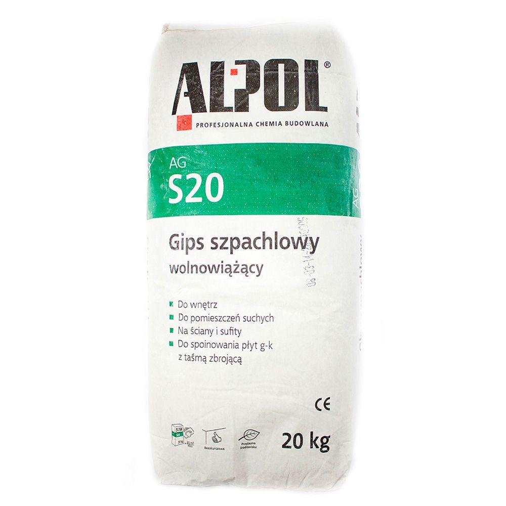 Шпаклевка гипсовая универсальная ALPOL AGS20 20кг в Калининграде