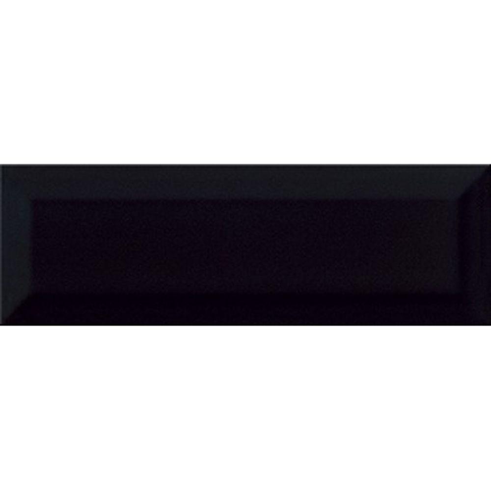 Плитка настенная Метро Черная Глянцевая 10 х 30 в Калининграде