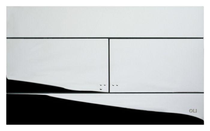 Кнопка смыва для инсталляции двойная, механическа, пластик хромированный глянцевый 659044 Slim Oliveira в Калининграде