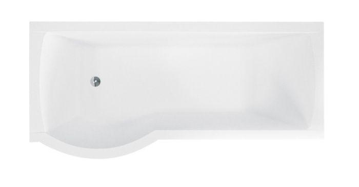 Ванна акриловая 170х70см INSPIRO левая с стекл. шторкой, с ножками (190л, глубина 40см) BESCO в Калининграде