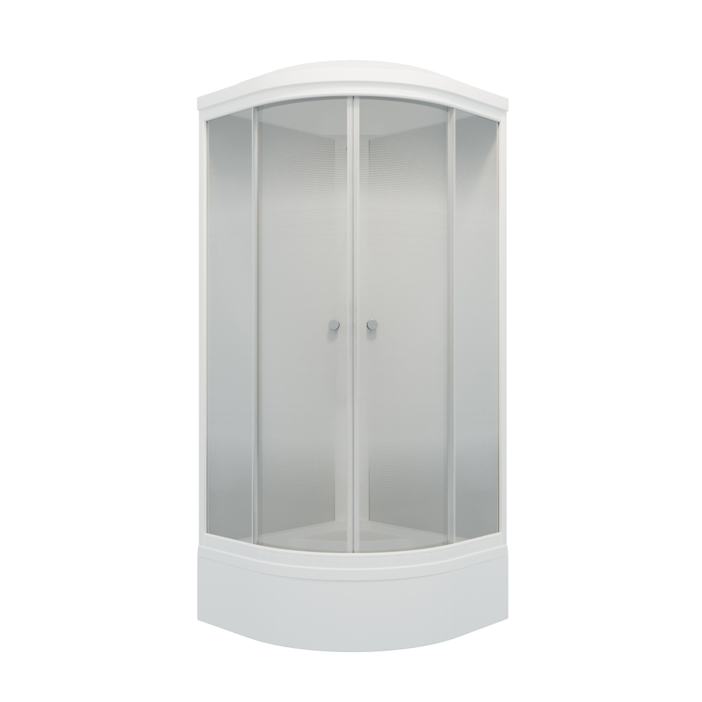 Кабина душевая 90х90х228, средний поддон, матовые стекла, Лайт В. Тритон в Калининграде
