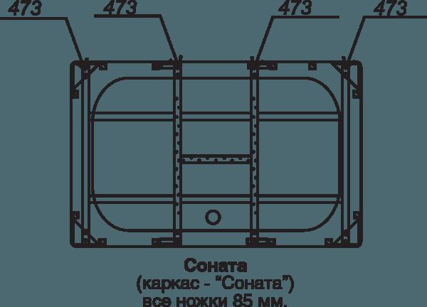 Каркас для ванны Соната (каркас+сборочный комплект с сифоном) Тритон в Калининграде