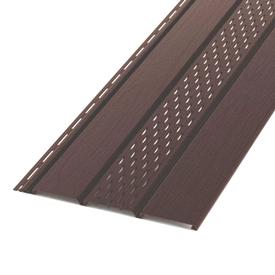 Сайдинг софитный перфорированный ПВХ светло-коричневый 306х3000 мм