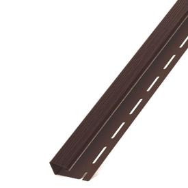 Профиль-J для сайдинга софитного ПВХ светло-коричневый 3000 мм