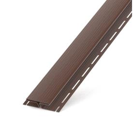 Профиль-H для сайдинга софитного ПВХ светло-коричневый 3000 мм