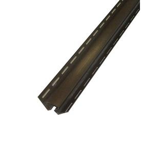 Угол внутренний для сайдинга софитного ПВХ светло-коричневый 3000 мм
