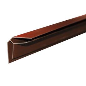 Угол ПВХ В5 внутренний коричневый 3 м