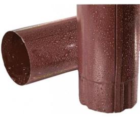 Труба водосточная Flamingo 100х1000 мм коричневый Budmat