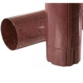 Труба водосточная Flamingo 100х3000 мм коричневый Budmat