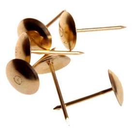 Гвозди декоративные (обивочные) 1.6х20 мм с широкой шляпкой бронза упаковка 90шт в Калининграде