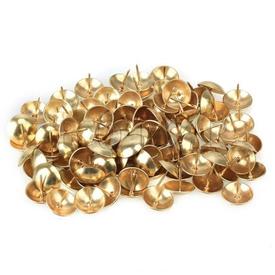 Гвозди декоративные (обивочные) 1.6х20 мм с широкой шляпкой золото упаковка 90 шт в Калининграде