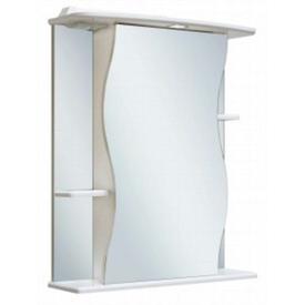 Шкаф-зеркало Лилия 600 мм, с подсветкой, правый, белый Runo в Калининграде