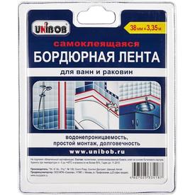 Лента клейкая бордюрная белая 38х3350 мм Unibob в Калининграде