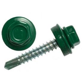 ШКЦ 4,8х35 мм шуруп кровельный цветной с уплотнительной шайбой EPDM упаковка 250 шт. RAL 6020 (т.зелен) в Калининграде