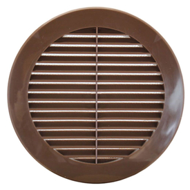 Решетка вентиляционная 133мм круглая с фланцем на 100мм, коричневая  KRO 100/B в Калининграде