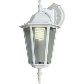 Светильник садово-парковый 60W E27 230V БРА вниз белый 6102 FERON в Калининграде