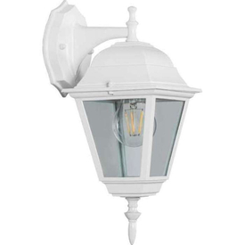 Светильник садово-парковый 60W E27 230V БРА вниз белый 4102 FERON в Калининграде