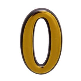 """Цифра дверная Trodos """"0"""" золото в Калининграде"""