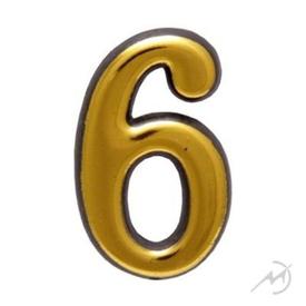 """Цифра дверная Trodos """"6"""" золото в Калининграде"""