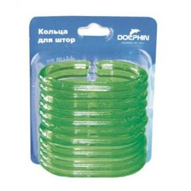 Кольца для шторки зеленые (12шт) в Калининграде