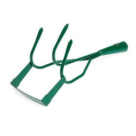 Грабли садовые стальные 3-х зубчатые с полольником 33,5 х 12 см, 24 мм зеленые без черенка в Калининграде
