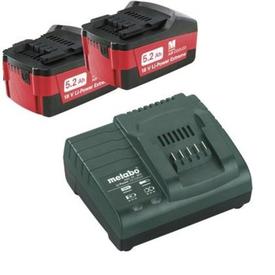 Аккумуляторы METABO 2шт (5,2А*ч; 18 В; Li-Ion) и ЗУ ASC 30-36 Basic-Set в Калининграде