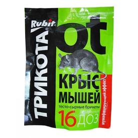 """Средство от крыс и мышей """"ТРИКОТА"""" тесто-сырные брикеты 350г (20) """"RUBIT"""" в Калининграде"""