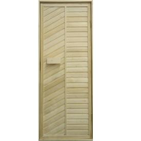 Дверь для сауны глухая 700х1800 мм липа/ольха левая в Калининграде