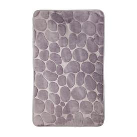 Коврик для ванной 45х75 Камни серый полиэстер в Калининграде
