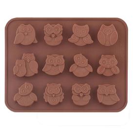 Форма для шоколадных конфет силиконовая Совы VL80-330 в Калининграде