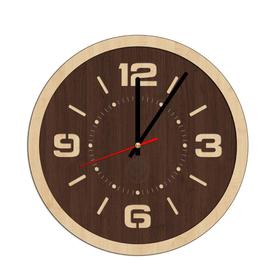 Часы круглые 30*30см, клен, венге в Калининграде