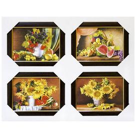 Полиптих из 4-х картин в раме, 40*50см, арт Ч002 кор в Калининграде
