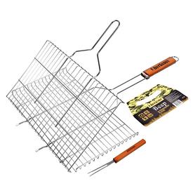 Решетка-гриль для стейков, большая с вилкой, картонный веер в ПОДАРОК, 70(+5)x45x27x2 cм BOYSCOUT в Калининграде