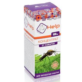 Средство от комаров, концентрат, на весь сезон более 50 соток HELP 100мл (24) в Калининграде
