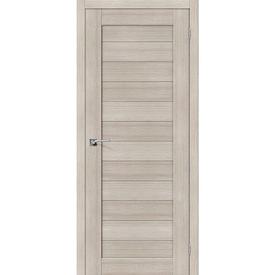 Полотно дверное глухое Порта-21 70х200 см, эко шпон, Cappuccino в Калининграде